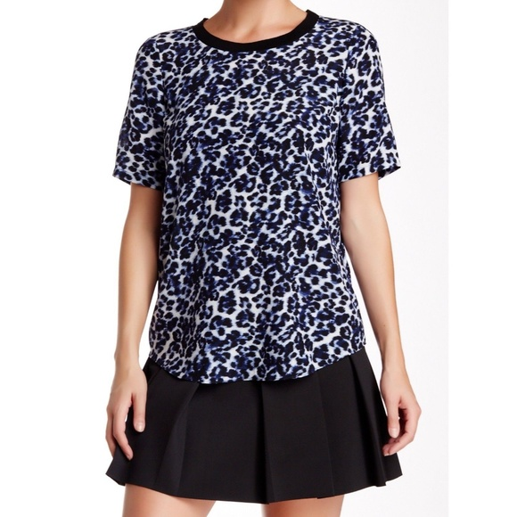 1c8d5e01018 Rebecca Taylor Silk Lynx Print Short Sleeve Top. M_5ace36bc3b1608cedbaba71a